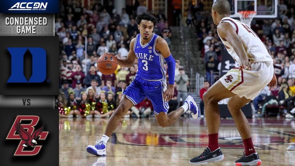 Duke Vs Boston College Condensed Game 2019 20 ACC Men U0026 39 S